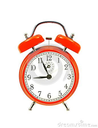 Free Red Bell Clock (alarm Clock) Royalty Free Stock Photo - 37355535