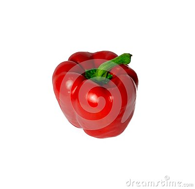 Free Red Bell Pepper Isolated On White. Food, Object. Stock Photography - 101202822