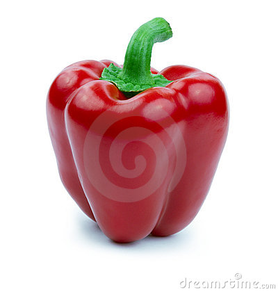 Free Red Bell Pepper (paprika) Isolated On A White Royalty Free Stock Photo - 17976025