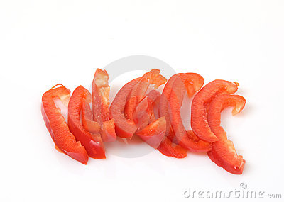 Red Bell Peppers Sliced