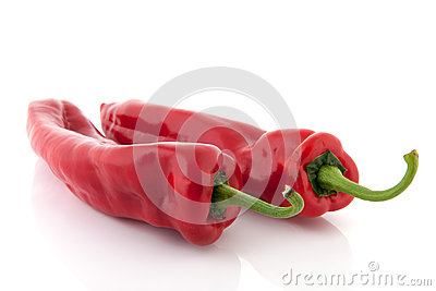 Red bell pointed peppers