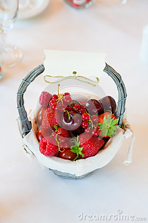 Red berry basket