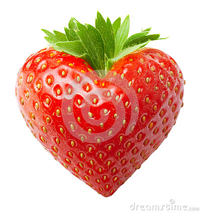 Free Red Berry Strawberry  Heart Shape Royalty Free Stock Image - 40469556