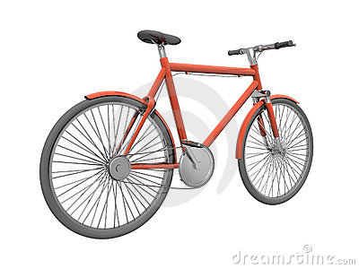 Red bicykle