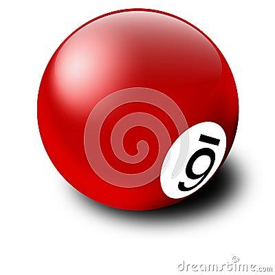 Red Billiards Ball