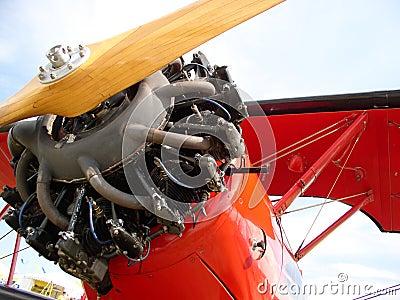 Red Biplane