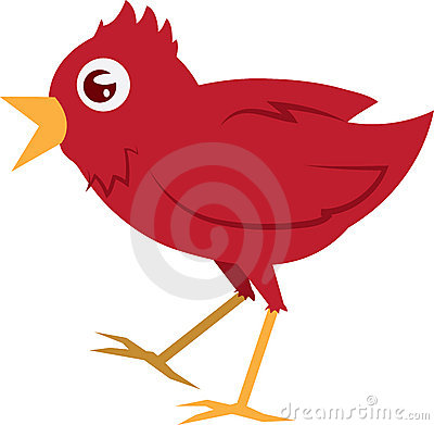 Free Red Bird Walking Royalty Free Stock Images - 23158299
