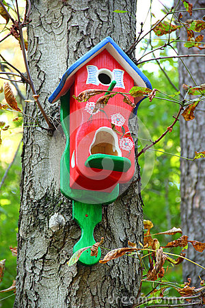 Free Red Birdhouse Royalty Free Stock Photo - 26590855