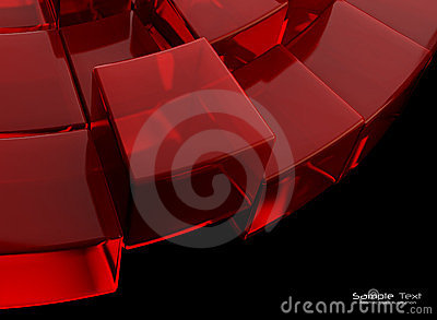 Red and black absatract background