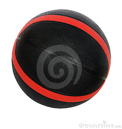Red and black basket-ball ball