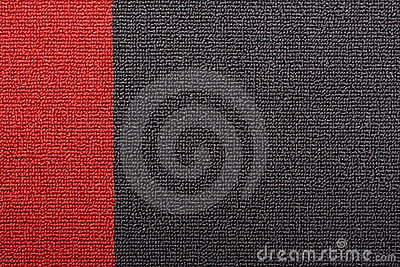 Red and black carpet
