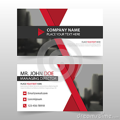 Red black corporate business card, name card template ,horizontal simple clean layout design template , Business banner card for Vector Illustration