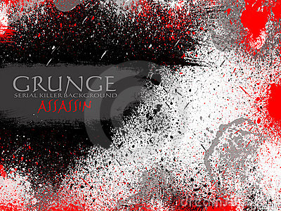 Red and Black Drops Grunge Background