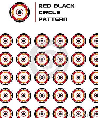 Red Black Flower Circle Pattern