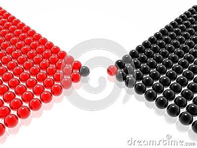 Red & black leader of management