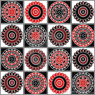 Red and black motifs