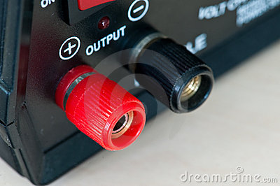 Red and Black Output Connector