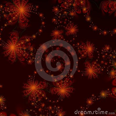 Red and Black Star Abstract background design or wallpaper