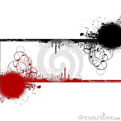 Red black swirls copyspace background