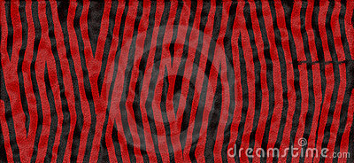 Red and black tiger print