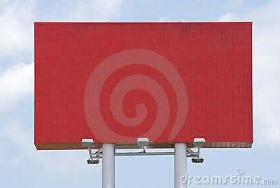Red blank Billboard for commercial advertise