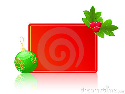 Red blank card. christmas new year concept