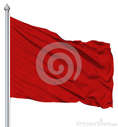 Free Red Blank Flag With Flagpole Stock Photography - 25205112