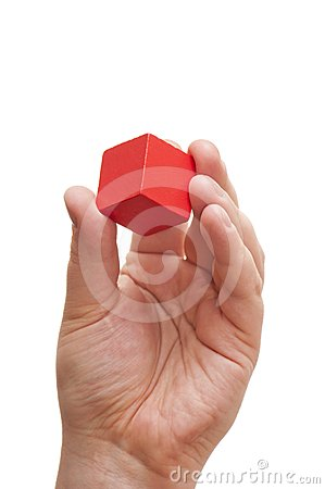 Free Red Block In The Hands Of Stock Photo - 24381040