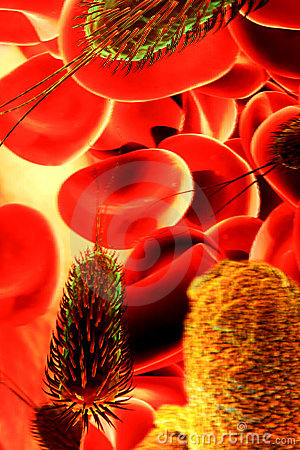 Red blood cells and germs