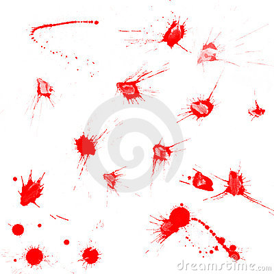 Free Red Blood Drops Stock Image - 4000891
