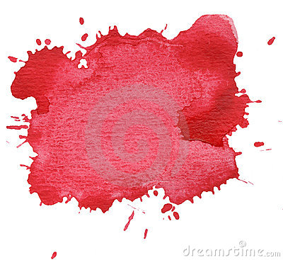 Red blot isolated on white