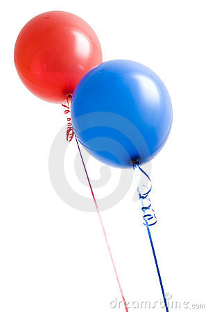 Red and Blue Balloons