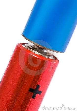 Red and blue batteries