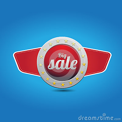Red blue big sale button with wings