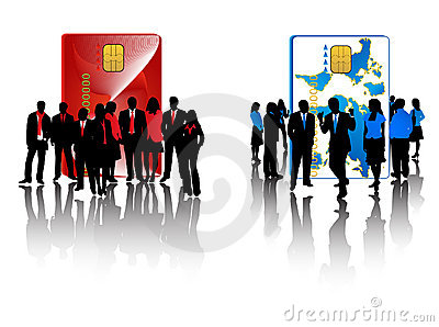 Red And Blue Business Teams Stock Photography - Image: 4950362