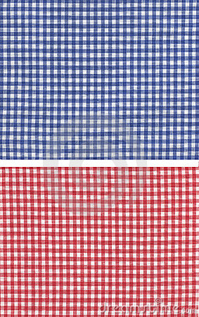 Red blue checkered