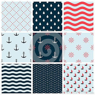 Free Red Blue Colorful Wave Vector Abstract Geometric Seamless Pattern Design Collection Decoration Web Stock Image - 109909371