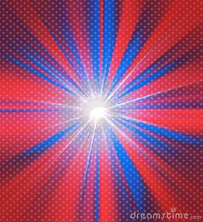 Red and blue colors glowing background