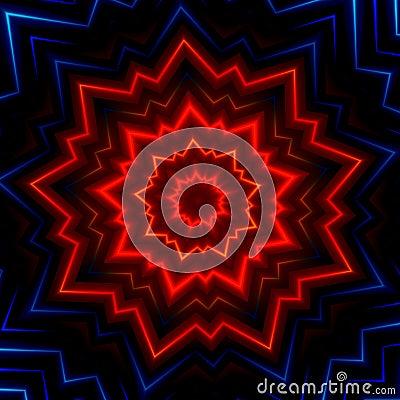 Free Red Blue Light Burst Flash. Hot Glowing Rays. Laser Show Effect. Made Many Stars. Shiny Xmas Sparkle. Fantasy Style Cover. Decor. Stock Image - 58930971