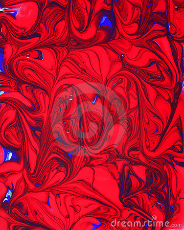 Red Blue Paint Swirl Pattern
