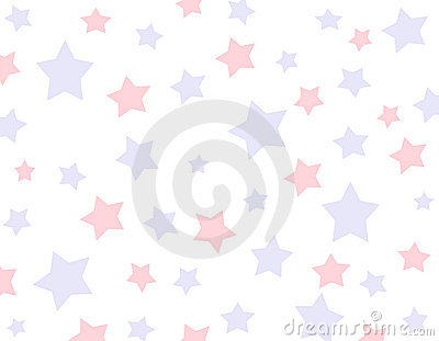 Red and Blue Star Background