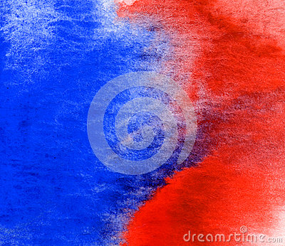 Red and blue watercolor texture