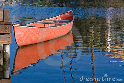 Red Boat and Reflection
