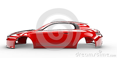 Red body car