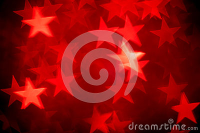 Red bokeh of stars background