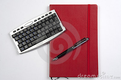 Red book and calculator