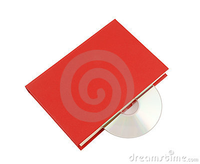 Red book with cd isolated