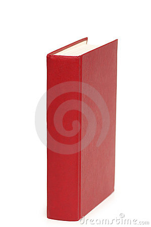 Red book isolated on the white