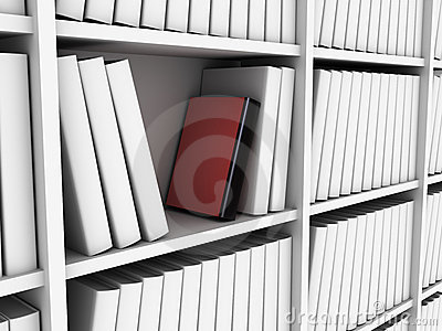 Red book in library