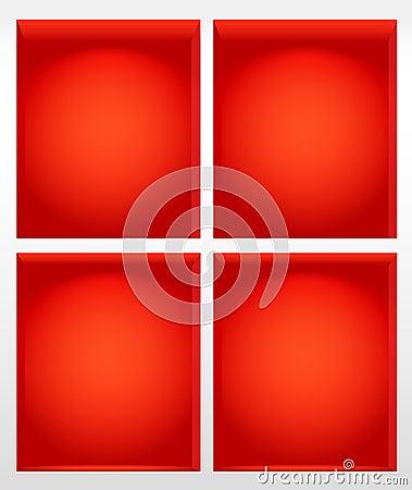 Red book shelves illustration
